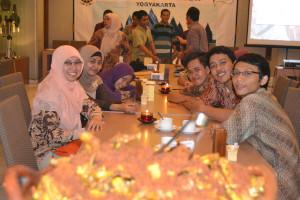 Mahasiswa yang hadir dalam acara temu alumni