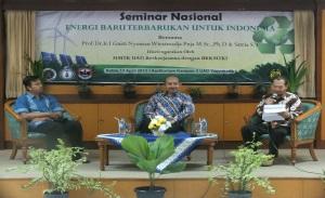 SEMINAR NASIONAL 2013 Energi Baru Terbarukan Untuk Indonesia